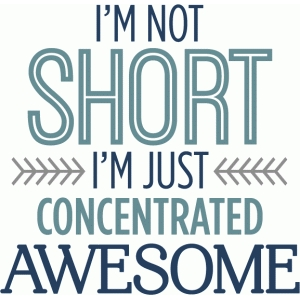 not short - concentrated awesome phrase