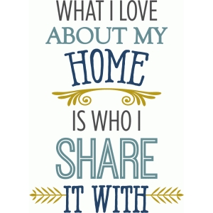 what i love about home phrase