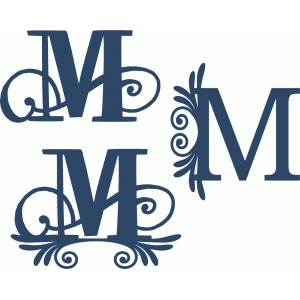 flourish monogram set - m