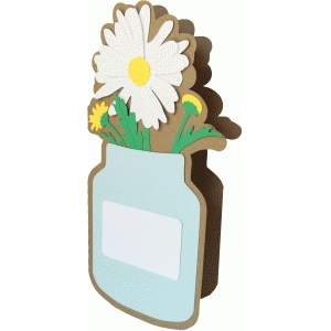 daisy and jar shadow card