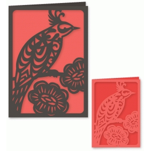 fancy bird folded card