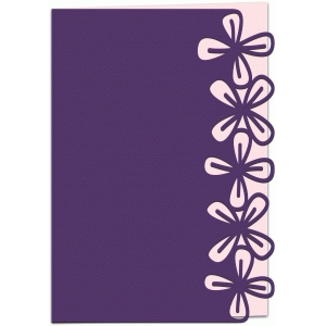 clematis lace edged 7x5 card