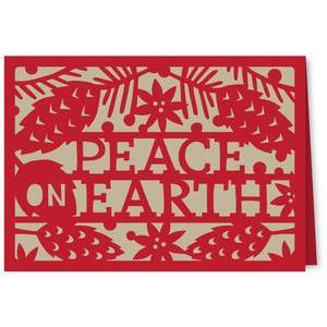 peace on earth pinecones card