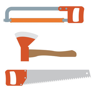 saws and axe