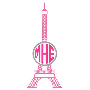 eiffel tower monogram