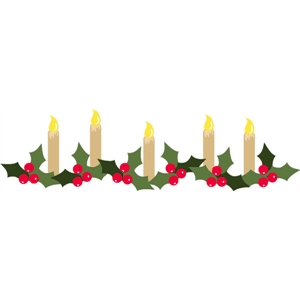 holly candle border