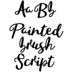 painted brush font