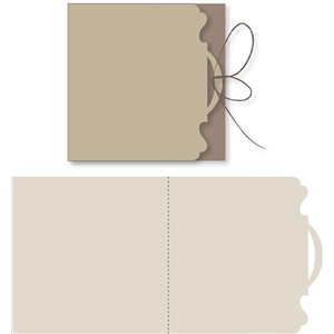 scalloped edge ribbon slot card