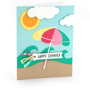 shaped card beach