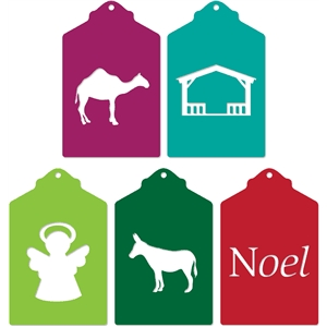 christmas tags set
