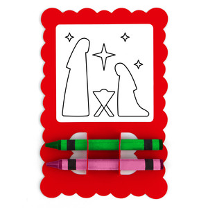 christmas card coloring nativity