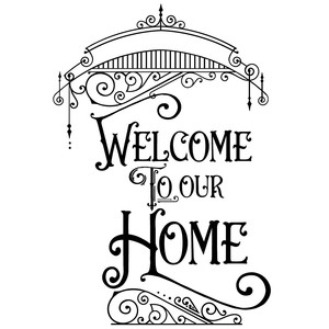 welcome to our home fancy flourish