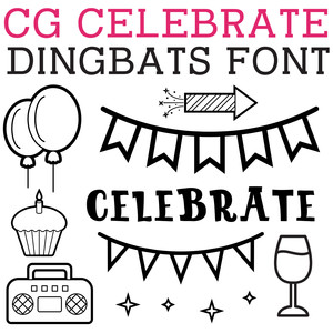 cg celebrate dingbats