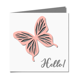 butterfly cutout 'hello' card