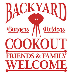 backyard cookout sign