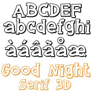 zp good night serif 3d