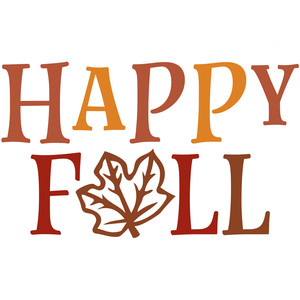 happy fall leaf