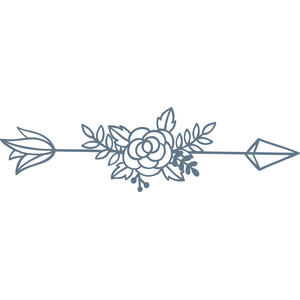 arrow with flower
