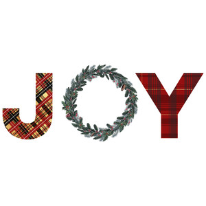 plaid joy word art