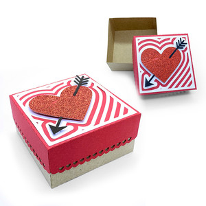 arrowed heart box