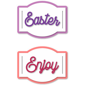 gift tag arch ribbon sliders easter enjoy