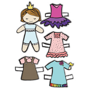 princess felicity paper doll set