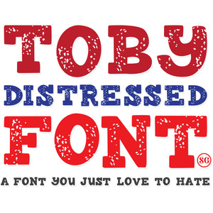 sg toby distressed font