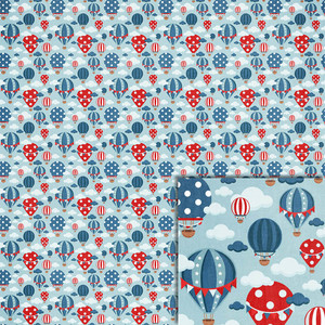 patriotic hot air balloons background paper