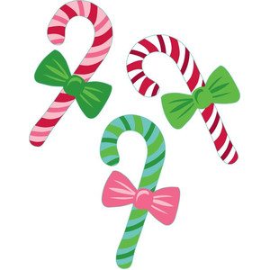candy canes and bows
