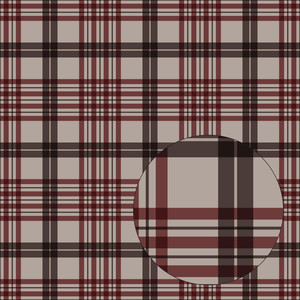 brown & red fall plaid seamless pattern