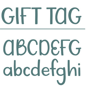 gift tag font