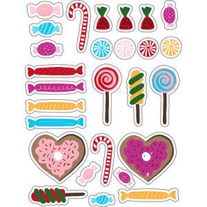 ml candy for christmas stickers