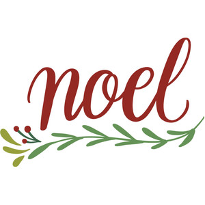 noel with branches and berries