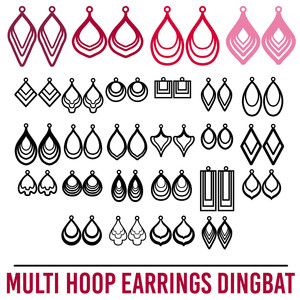 hoop earrings dingbat font