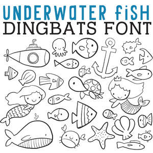 cg underwater fish dingbats