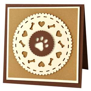puppy doily card