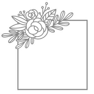 square rose floral frame
