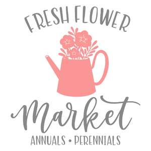 fresh flower market watering can