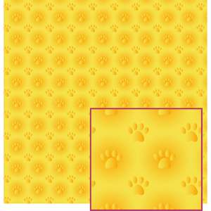 yellow paw print pattern