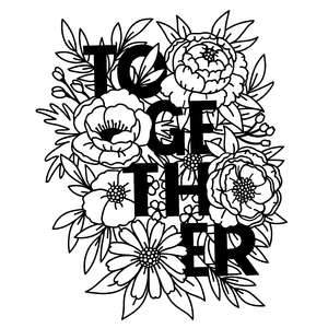 together in flower bouquet