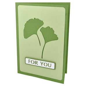 gingko for you stencil card