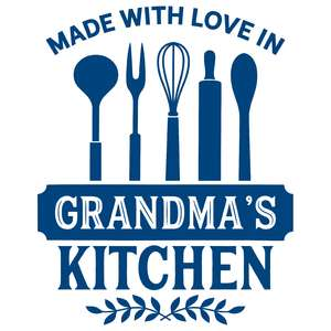 made with love in grandma's kitchen