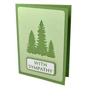 forest with sympathy stencil card