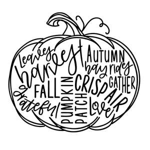 pumpkin word art