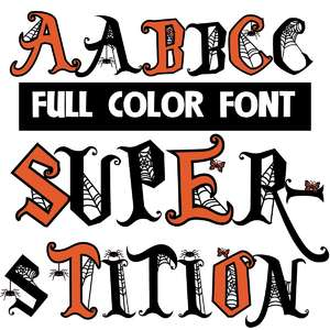 superstition color font