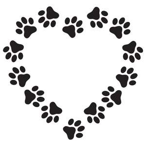 pawprints heart