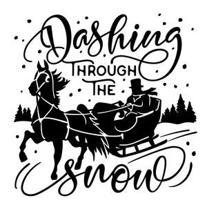 dashing through the snow - horse drawn sleigh