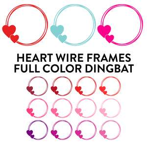 heart wire frames full color dingbat