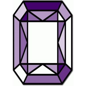 stained glass rectangle gem