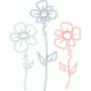 flower trio sketch